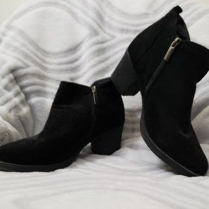 Black Ankle Boots with Zipper